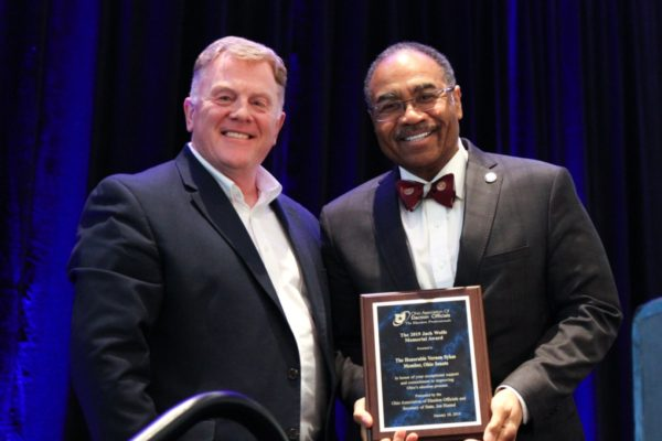 Brother Vernon Sykes and Ed Leonard at the OAEO's Award Ceremony